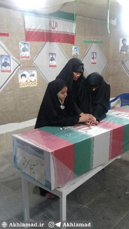 همسر و دختر شهید حسین محرابی، شهید مدافع حرم